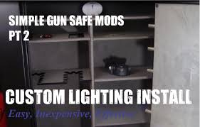 cannon safe light kit diy led gun safe automatic lighting install easy step by step