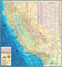 state map of california california state physical wall map by compart maps