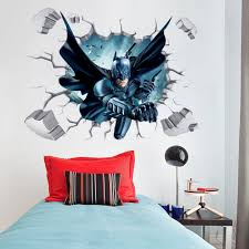 home decor 3d stickers batman through wall stickers with decor decal art removable vinyl