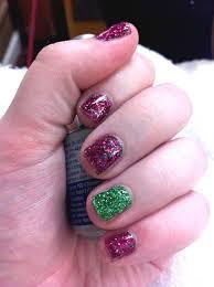glittery gelish soak off nail polish manicure