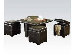 Side Table With Storage by Coffee Table With Storage Ottomans For Coffee Table With 4 Storage