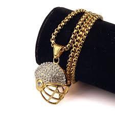 aliexpress buy nyuk new fashion american style gold nyuk new box chain fashion sport gold cool football and helmet