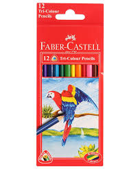 faber castell triangular colour pencils pack 12 assorted