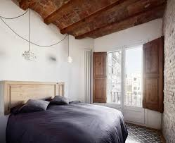 Black And White Rustic Bedroom Apartment Bedroom Apartment In Eixample Designed By M2aquitectura