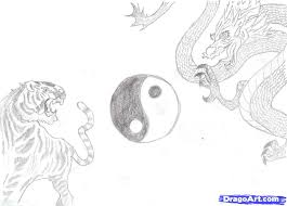 how to draw tiger and dragon step by step concept art fantasy