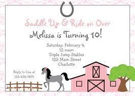 free printable horse riding party invitations birthday