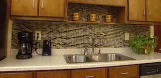 Kitchen Tile Backsplash Installation Diy Mosaic Glass Tile Backsplash Installation Zero Experience