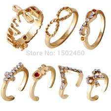 wedding ring brand bijoux anel bague wedding ring 7 in1 cross bow alphabetical