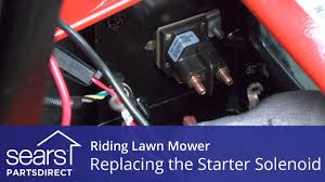 replacing a starter solenoid on a lawn mower