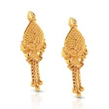 gold ear ring image esita beaded gold drop earrings jewellery india online caratlane