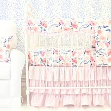 willow u0027s watercolor blush u0026 navy floral crib bedding caden lane