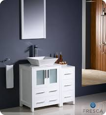 Bathroom Vanity With Side Cabinet Fresca Torino 36 White Modern Bathroom Vanity With Side Cabinet