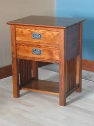 Oak End Tables End Table W 2 Drawers