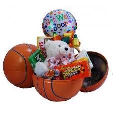 basketball gift basket basketball get well gift basket gourmet candy gifts