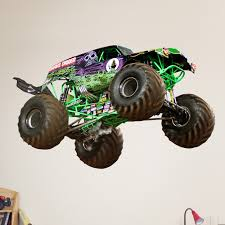 monster truck grave digger videos monster truck gravedigger wall decal hayneedle