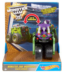 original grave digger monster truck wheels monster jam character truck mj grave digger toys