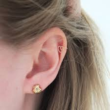 cartilage earrings diy gold cartilage earring by kate smalley project jewelry