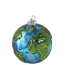 earth design 3 glass tree ornament