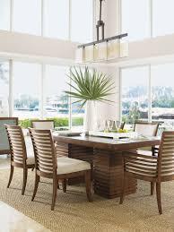 Tropical Dining Room Furniture Ocean Club Peninsula Dining Table Lexington Home Brands