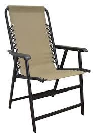 Folding Metal Outdoor Chairs Amazon Com Caravan Sports Suspension Folding Chair Beige