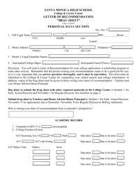 Brag Sheet Template For Letter Of Recommendation Brag Sheet Fill Printable Fillable Blank Pdffiller