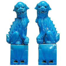 turquoise foo dogs for sale pair of turquoise glazed foo dogs for sale at 1stdibs