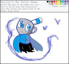 Meme Cute - ms paint meme cute mugman by anavinnik on deviantart