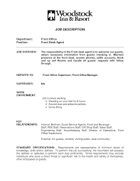 Stockroom Job Description Cv Example Hotel Job