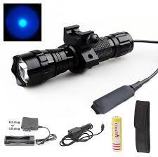 tac light flash light usa eu sel wf 501b 1 mode cree q5 blue led flashlight tactical
