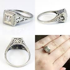 etsy art deco engagement ring designs