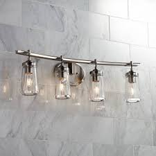 4 light bathroom fixture brushed nickel bathroom lights elegant poleis 4 light 32 wide bath