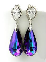 purple earrings 148 best color purple images on purple