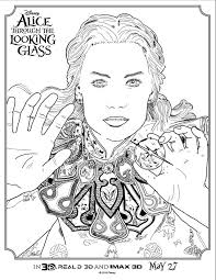 alice glass coloring pages activity sheets