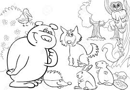 Illustration De Bande Dessinée Danimaux Sauvages De La Forêt Pour
