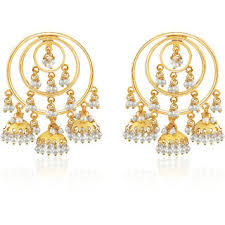 jhumki earring spargz traditional gold plated beautiful pearl design jhumki