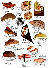 illustration cuisine types of sushi 1 cuisine japanese food and food
