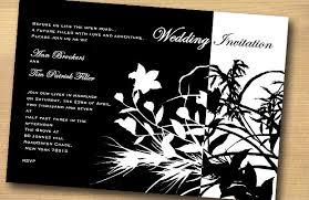 black and white wedding invitations flower design black and white wedding invitation trendy mods