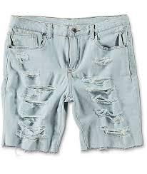 light wash denim shorts empyre kali destroyed boyfriend light wash denim shorts zumiez
