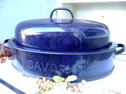 savory roasting pan savory jr enamelware roasting pan kitchenware vintage