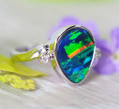 natural opal rings images Opal rings natural and elegant opal rings opal auctions jpg