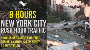 nyc ambience 8 hours white noise city sounds for