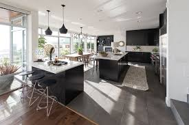 modern kitchen with kitchen island by atg stores zillow digs
