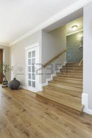 wood floored home entrance and stock photo picture and