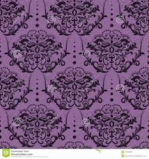 Purple Damask Wallpaper by Seamless Damask Wallpaper Stock Vector Image 44359598