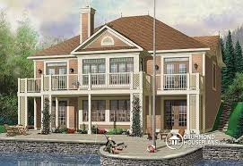 house plans with rear view house plan w3927 detail from drummondhouseplans com