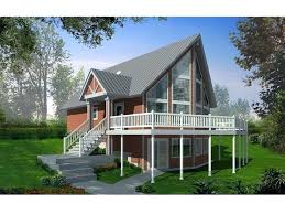 a frame house plans with basement vacation home plans with walkout basement a frame house plan