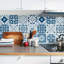 blue moroccan tile decals tile stickers set for kitchen and