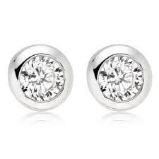 cubic zirconia stud earrings silver cubic zirconia stud earrings 0008921 beaverbrooks the