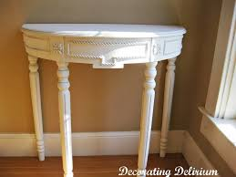 White Entry Table by Furniture Cappuccino Demilune Entry Table With Drawers Demilune