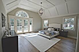 Chandelier For Cathedral Ceiling Contemporary Master Bedroom With Box Ceiling By Elite Staging And
